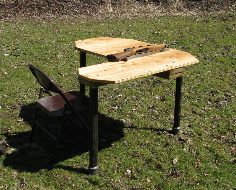 Delightful Homemade Portable Shooting Bench Plans